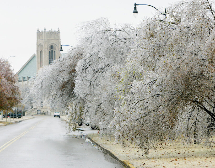 photo of 2007 ice storm OU